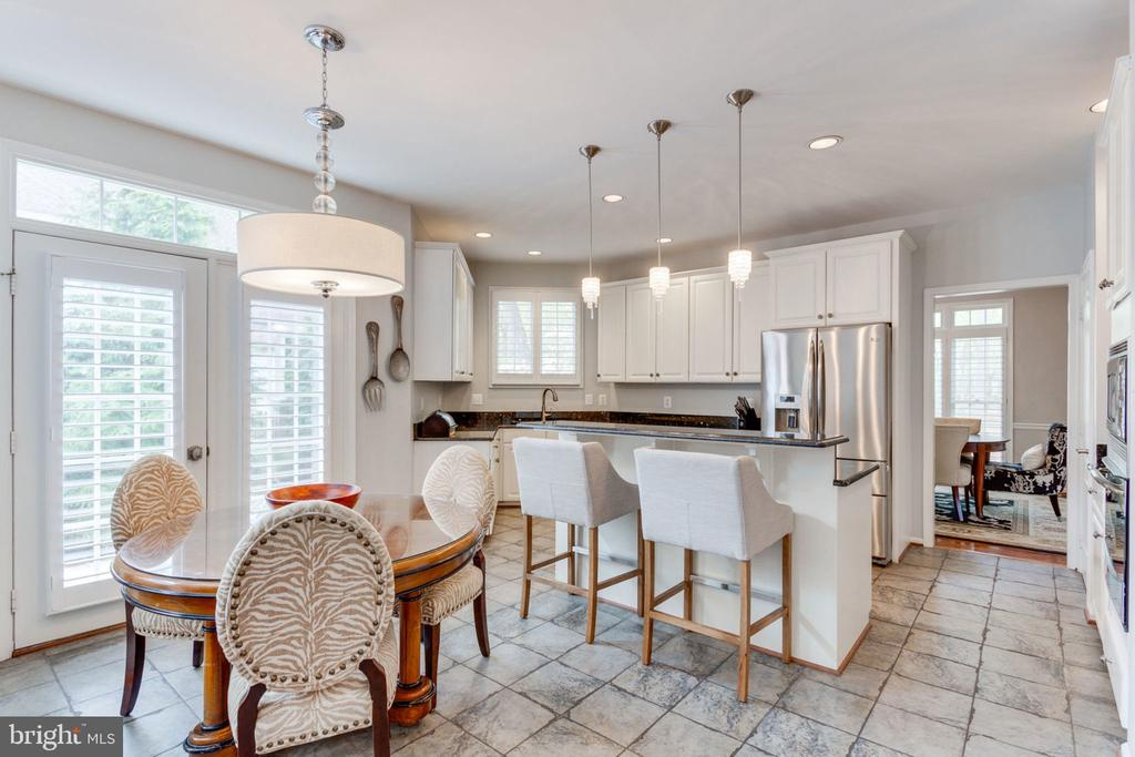 Breakfast Area With French Doors to Rear Yard - 2232 CENTRAL AVE, VIENNA