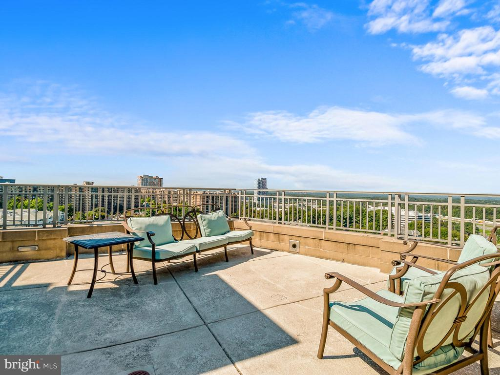 Roof top Resident Terrace - 8220 CRESTWOOD HEIGHTS DR #1814, MCLEAN