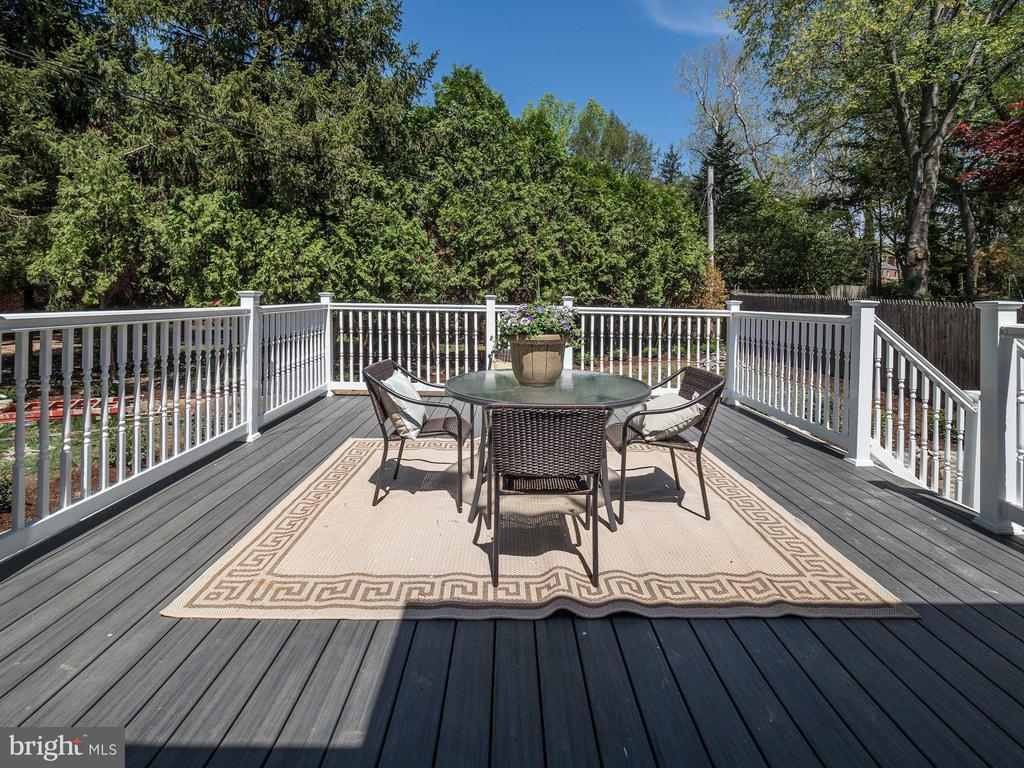Rear deck - 1633 KALMIA RD NW, WASHINGTON