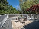 Deck to patio - 1633 KALMIA RD NW, WASHINGTON