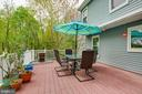 Relax on the low maintenance deck. - 15103 SWISS STONE CT, BURTONSVILLE