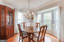 Dining room with plenty of natural light - 15103 SWISS STONE CT, BURTONSVILLE