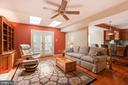 Family room with access to sunroom/deck - 15103 SWISS STONE CT, BURTONSVILLE