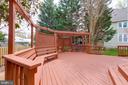 Pergola and seating.  Views of gardens. - 2405 SAGARMAL CT, DUNN LORING