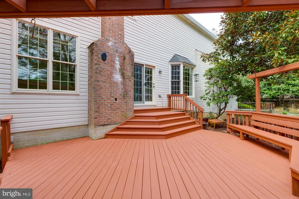 Painted deck. Potted plants (not shown) convey. - 2405 SAGARMAL CT, DUNN LORING