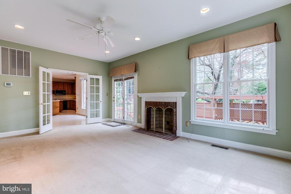 New carpet in family room, wood burning fireplace. - 2405 SAGARMAL CT, DUNN LORING