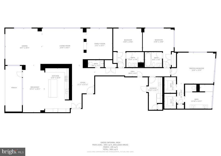 Floorplan - 1055 WISCONSIN AVE NW #2W, WASHINGTON