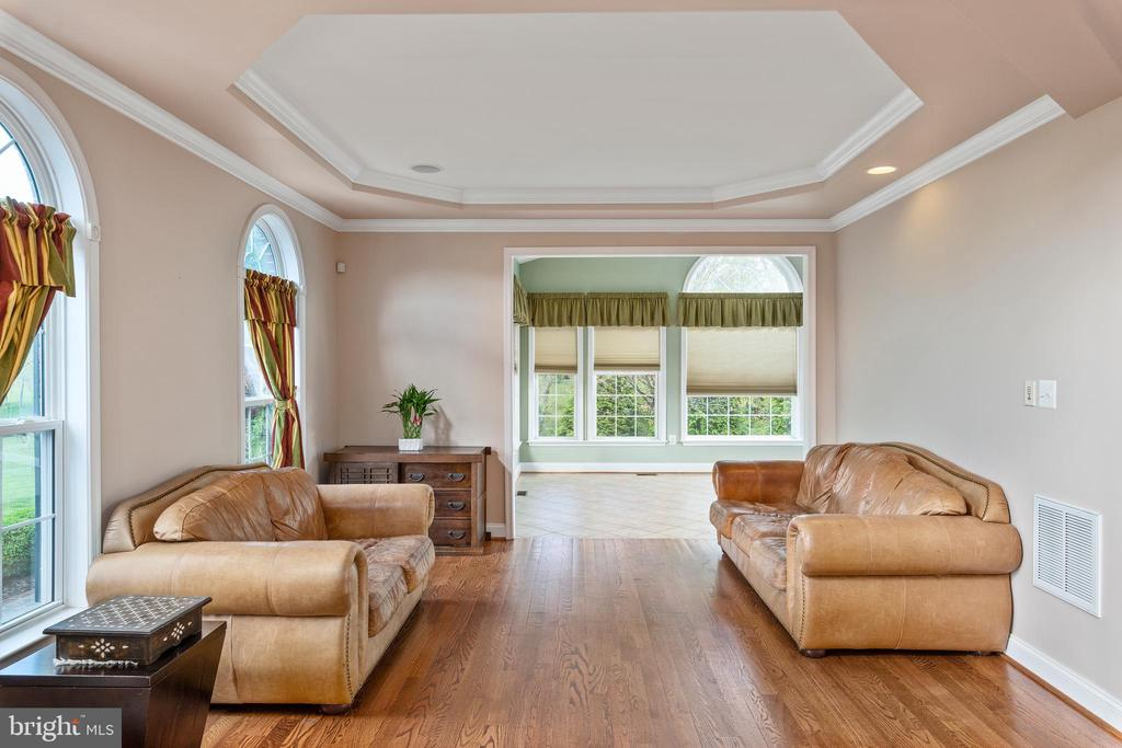 Tray Ceilings Adorn the Formal Living Room - 12515 SINGLE OAK RD, FREDERICKSBURG