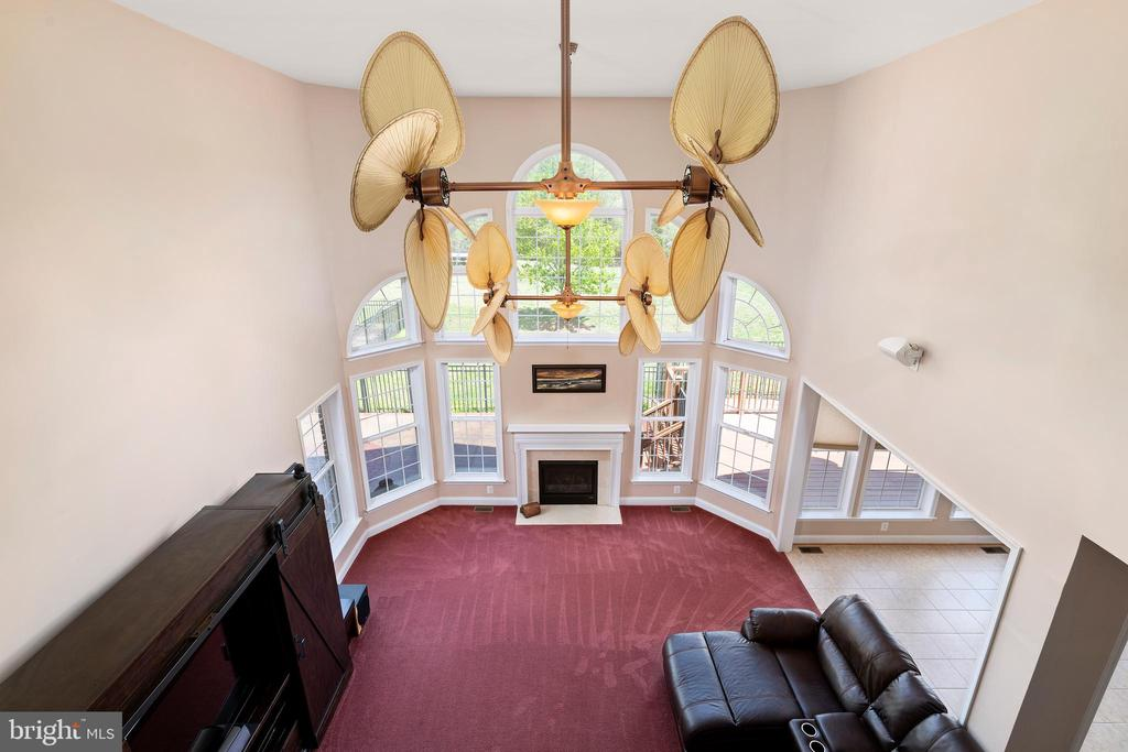 Looking Down Into the Breathtaking Great Room - 12515 SINGLE OAK RD, FREDERICKSBURG
