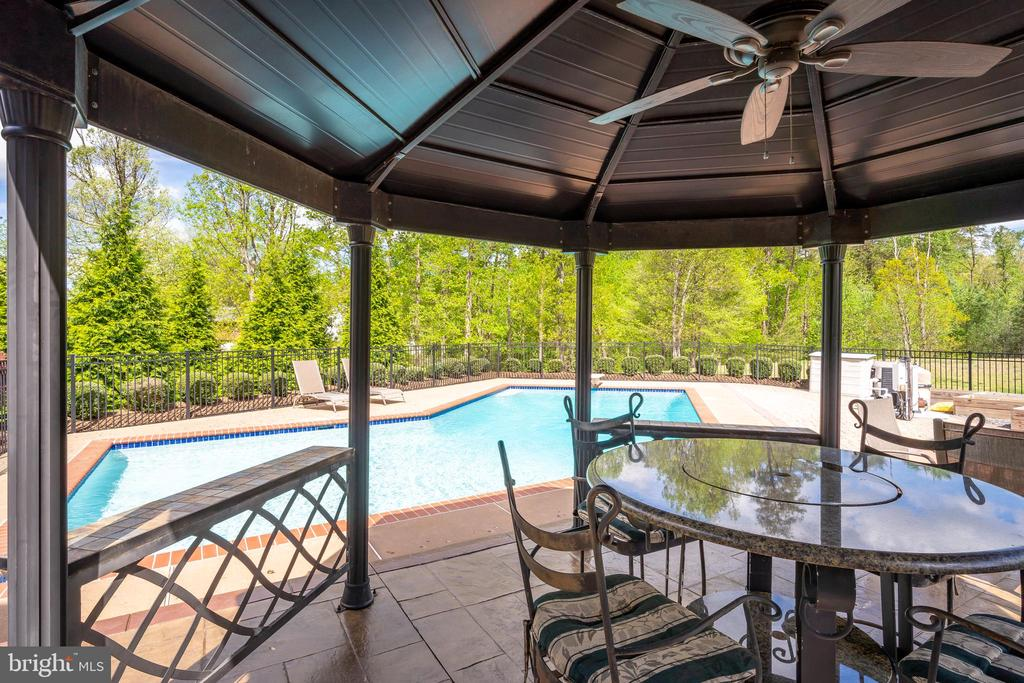 Gazebo with Ceiling Fan - 12515 SINGLE OAK RD, FREDERICKSBURG