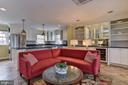 Family room off kitchen - 6006 COREWOOD LN, BETHESDA