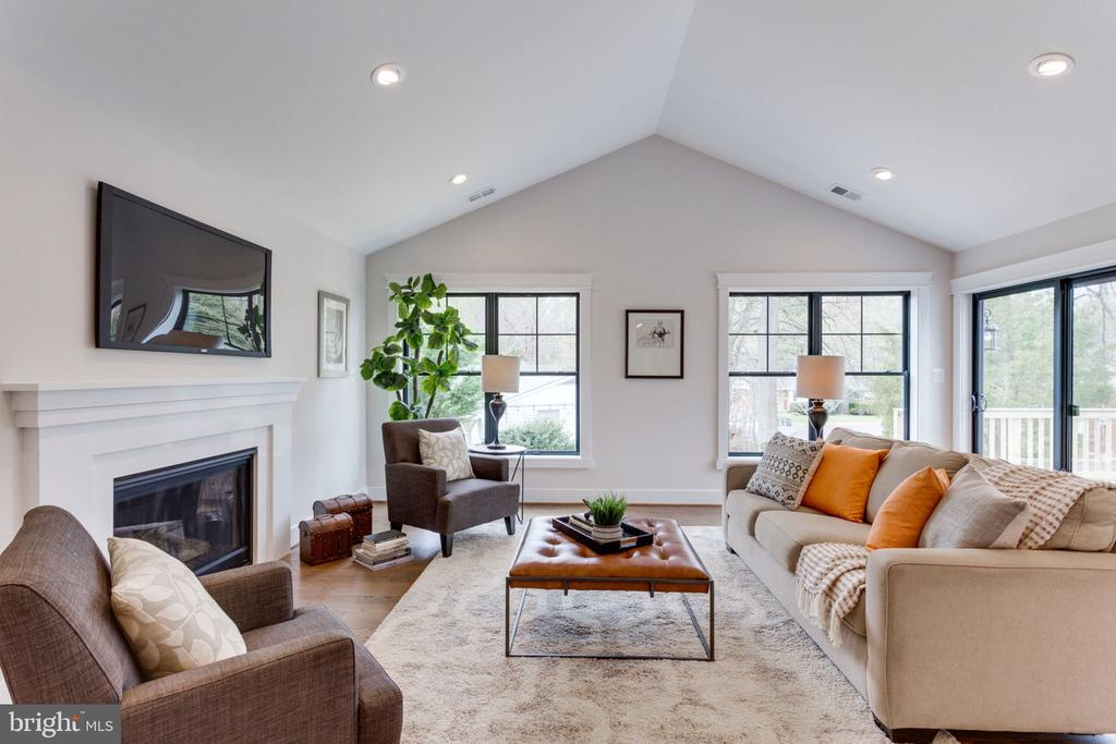 Gather Around The Fireplace in the Family Room - 505 PRINCESS CT SW, VIENNA