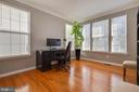 Office with Windows Overlooking Private Back Yard - 8371 TILLETT LOOP, MANASSAS