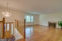 Living Room has a cozy wood burning FP - 2918 GLENVALE DR, FAIRFAX