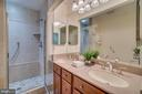 Master bath with dual sinks and walk in shower - 2918 GLENVALE DR, FAIRFAX