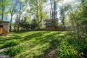 Backyard Oasis with trees, grass and private deck - 2918 GLENVALE DR, FAIRFAX