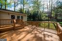 Large deck off kitchen/family room - 2918 GLENVALE DR, FAIRFAX