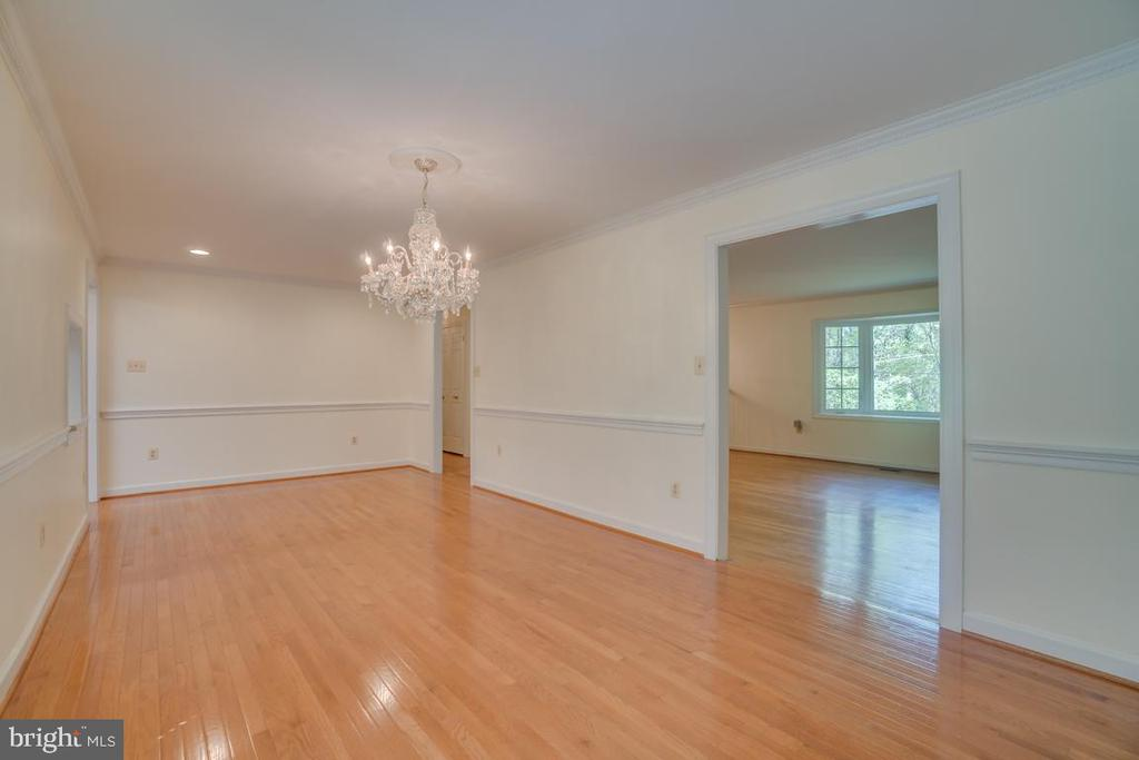Dining Room with hardwood floors - 2918 GLENVALE DR, FAIRFAX