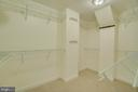 Large Walk in Master Bedroom Closet - 2918 GLENVALE DR, FAIRFAX
