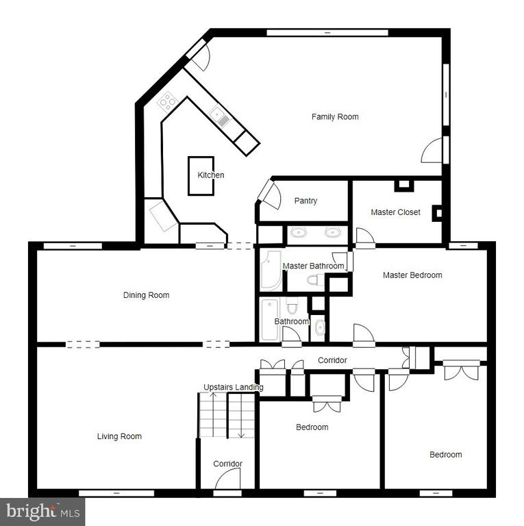 Main Level Floor Plan - 2918 GLENVALE DR, FAIRFAX