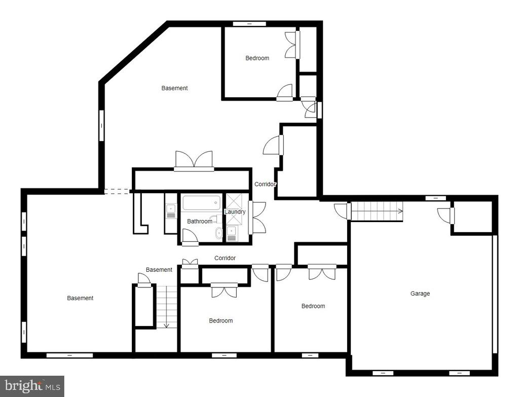 Lower Level Floor Plan - 2918 GLENVALE DR, FAIRFAX