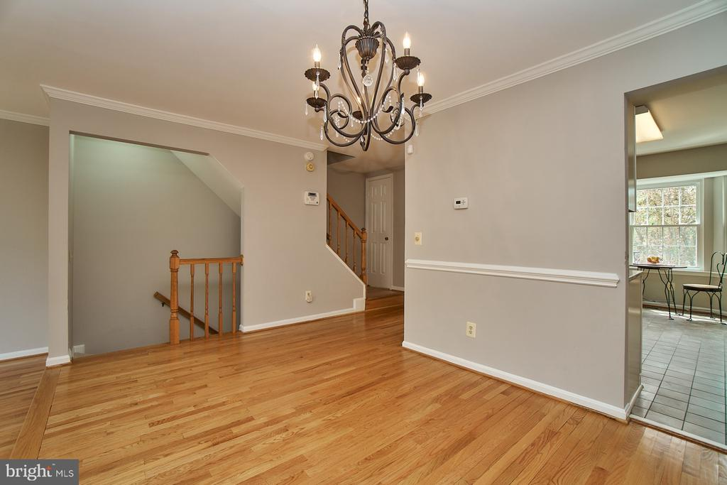 Dining Room with ChairRail and Crown Molding - 12320 SLEEPY LAKE CT, FAIRFAX