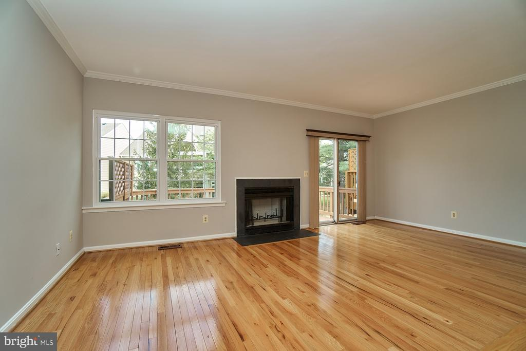 Woodturning Fireplace and Deck Access - 12320 SLEEPY LAKE CT, FAIRFAX