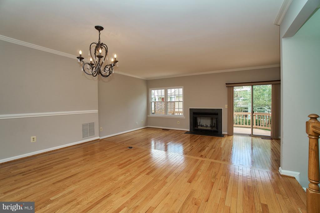 Hardwood Living and Dining Room Floors - 12320 SLEEPY LAKE CT, FAIRFAX
