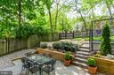 Slate patio that leads to sports court - 300 N VIEW TER, ALEXANDRIA