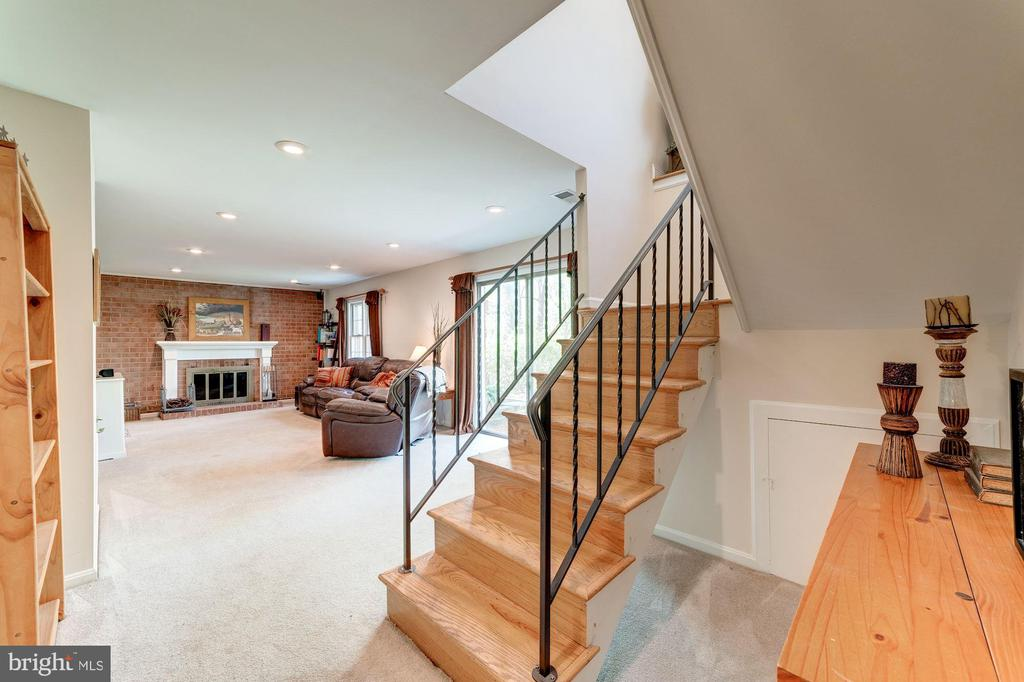 Lower Level family room - 11310 MYRTLE LN, RESTON