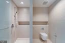 Master bathroom shower and water closet - 920 I ST NW #609, WASHINGTON