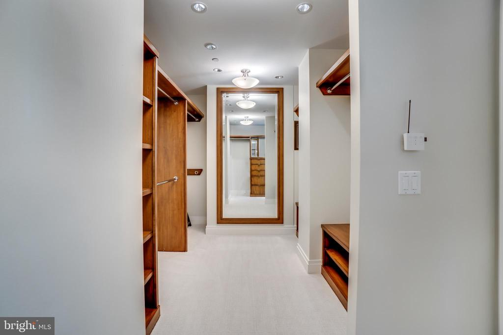 Walk in Closets in Master - 3150 SOUTH ST NW #PH1D, WASHINGTON