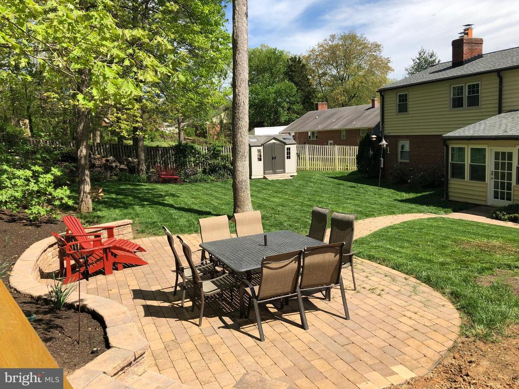 Patio with Rear view of home - 6036 OLD TELEGRAPH RD, ALEXANDRIA