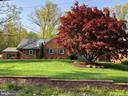 View of Front showing brick wall / Maple tree - 6036 OLD TELEGRAPH RD, ALEXANDRIA