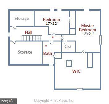 Upper Level Floor Plan - 6036 OLD TELEGRAPH RD, ALEXANDRIA