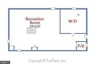 Lower Level Floor Plan - 6036 OLD TELEGRAPH RD, ALEXANDRIA