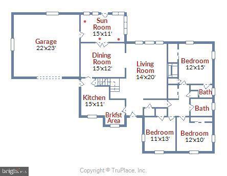 Main Level Floor Plan - 6036 OLD TELEGRAPH RD, ALEXANDRIA