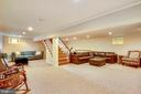 Lower Level Rec Room 2 with multiple living spaces - 6036 OLD TELEGRAPH RD, ALEXANDRIA