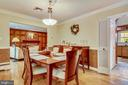 Main Level Dining Room - 6036 OLD TELEGRAPH RD, ALEXANDRIA