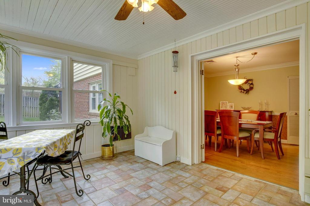 Sunroom showing Dining Room - 6036 OLD TELEGRAPH RD, ALEXANDRIA
