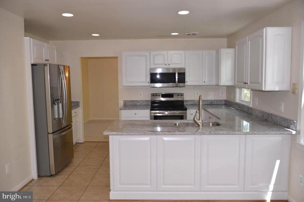 Bright Kitchen with new Granite, sink, and Faucet. - 9374 TARTAN VIEW DR, FAIRFAX