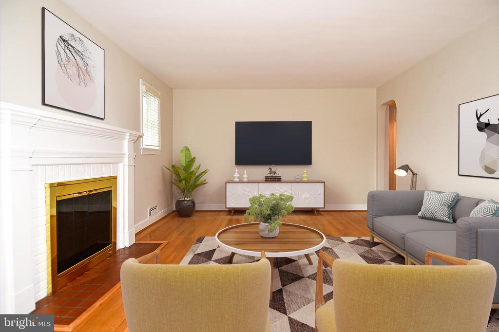 Looking the OTHER way in the (Staged) Living Room - 2446 N JEFFERSON ST, ARLINGTON