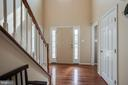 Entry, hardwood floors on main level - 51 FOUNTAIN DR, STAFFORD