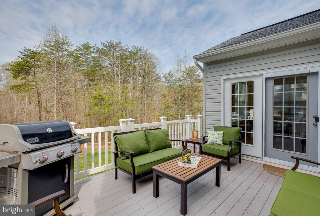 Low maintenance Trex deck and railings - 51 FOUNTAIN DR, STAFFORD