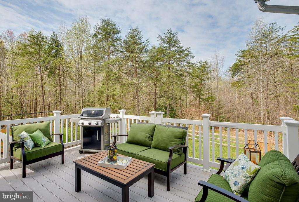 Deck is great area for grilling and entertaining - 51 FOUNTAIN DR, STAFFORD