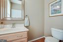 Powder room on main level - 51 FOUNTAIN DR, STAFFORD