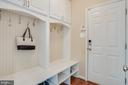 Mud room with built-in bench, storage system - 51 FOUNTAIN DR, STAFFORD
