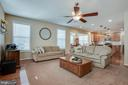 Large family room, flexible seating options - 51 FOUNTAIN DR, STAFFORD