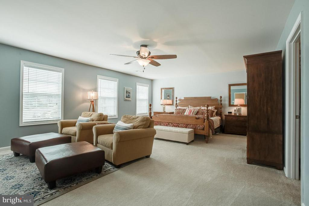 Spacious master bedroom - 51 FOUNTAIN DR, STAFFORD