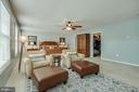 Master has large ceiling fan, large walk-in closet - 51 FOUNTAIN DR, STAFFORD